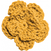 Independence- Yellow Crochet Flower
