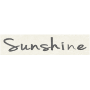 Sunshine & Lemons Mini- Sunshine Word Art