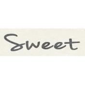 Sunshine & Lemons Mini- Sweet Word Art