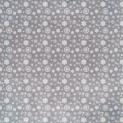 Summer Fields Gray Floral Paper