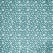 Summer Fields Blue Floral Paper