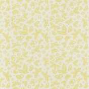 Summer Fields Yellow Butterfly Paper