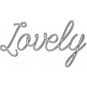 Summer Fields Metal Word Art- Lovely
