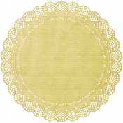 Summer Fields- Yellow Doily
