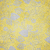 Pond Life- Yellow Floral Paper