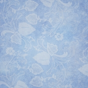 Pond Life- Light Blue Floral Paper