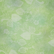 Pond Life- Green Floral Paper
