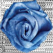 Pond Life- Blue Fabric Flower 1