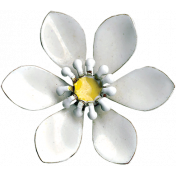 Pond Life- White Flower Pin