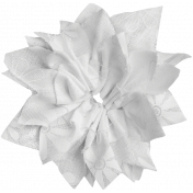 Pond Life- White Fabric Flower 1