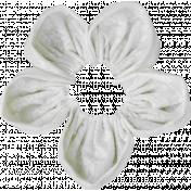 Pond Life- White Fabric Flower 2