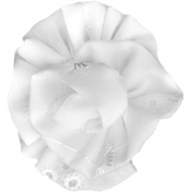 Pond Life- White Fabric Flower 3