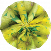 Pond Life- Yellow Fabric Flower 2
