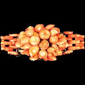 Garden Party- Orange Bead Cluster
