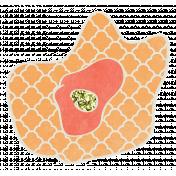Garden Party- Orange Flower Doodle 2