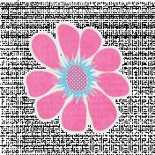 Garden Party- Pink Flower Doodle