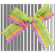 Garden Party- Striped Bow