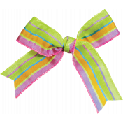 Garden Party- Striped Bow