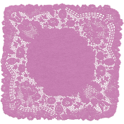 Garden Party- Tea Party Purple Doily