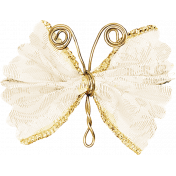 Garden Party- Cream Wire Butterfly