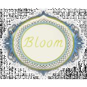 Garden Party- August 2014 Blog Train- Bloom Sticker