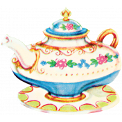 Garden Party- August 2014 Blog Train- Teapot