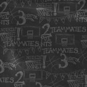 Basketball Paper Chalkboard