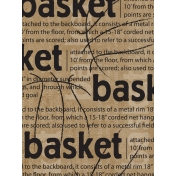 Basketball Card 3x4 Basket