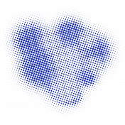 Color Basics Scattered Dots 01 Glitter Blue