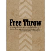 Basketball Card 3x4 Free Throw