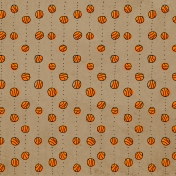 Basketball Paper Balls Dots