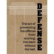 Sports Card 3x4 Defense