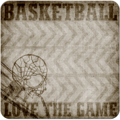 Basketball Sticker Square