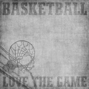 Basketball Paper Love The Game