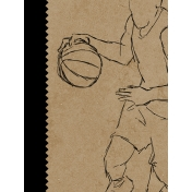 Basketball Card 3x4 Player