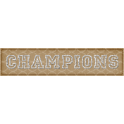 Sports Word Art Banner Champions