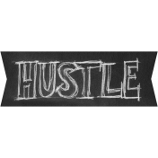 Sports Word Art Banner Hustle