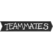 Sports Word Art Banner Teammates Right
