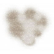 Color Basics Scattered Dots 01 Glitter Brown