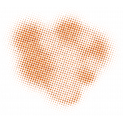 Color Basics Scattered Dots 01 Glitter Orange
