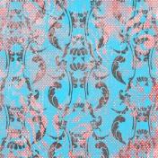 Tropics Paper Damask Blue