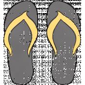 Tropics Flip Flops Gray
