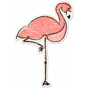 Tropics Sticker Flamingo