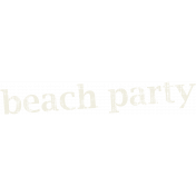 Tropics Word Art Beach Party
