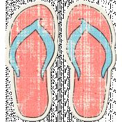 Tropics Sticker Flip Flops Pink 02