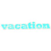 Tropics Word Art Sticker Vacation