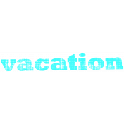 Tropics Word Art Vacation