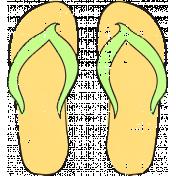 Tropics Flip Flops Yellow