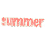 Tropics Word Art Sticker Summer