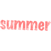 Tropics Word Art Summer